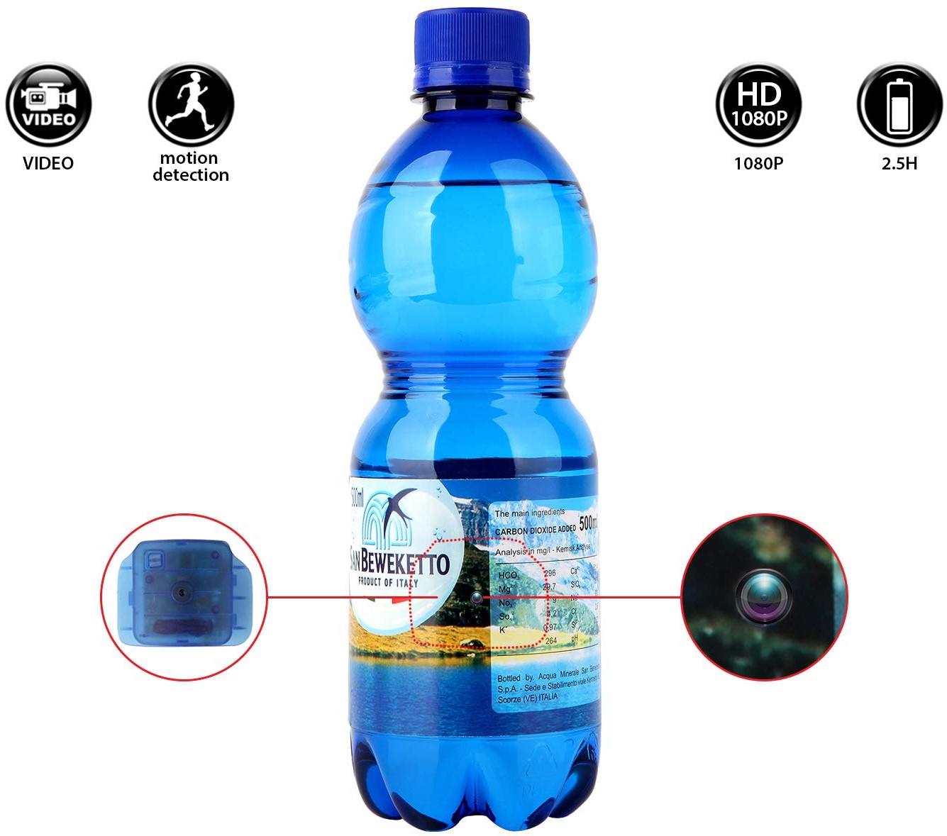 Bottle hidden car surveillance camera