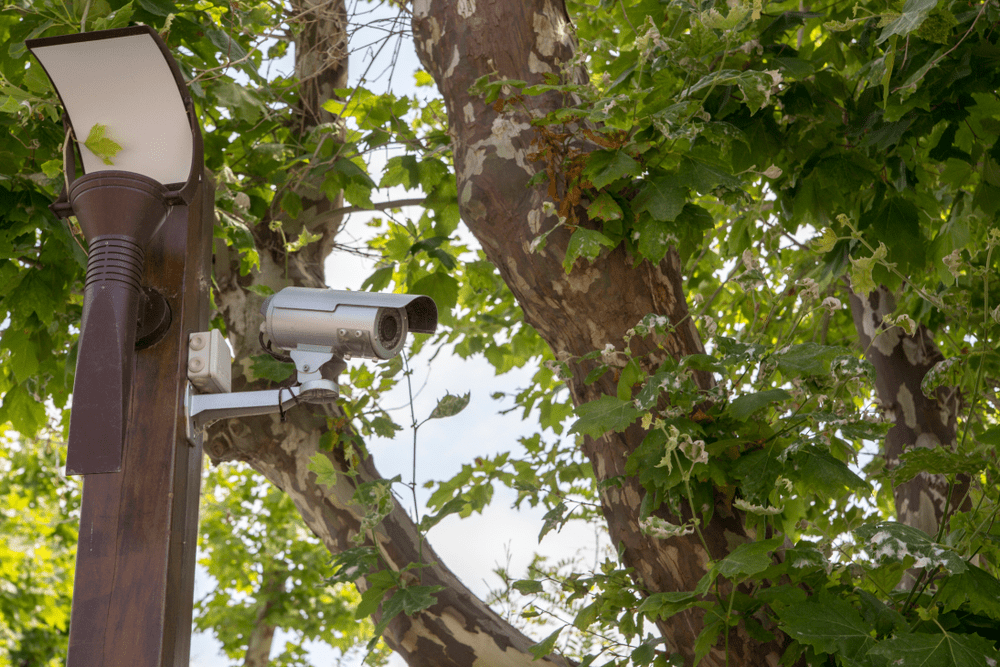 Outdoor location installation costs for security camera