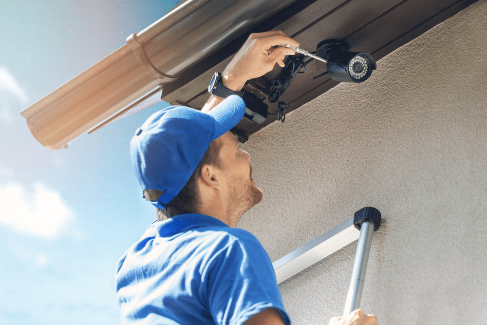 home and businesss security cameras charges for installation