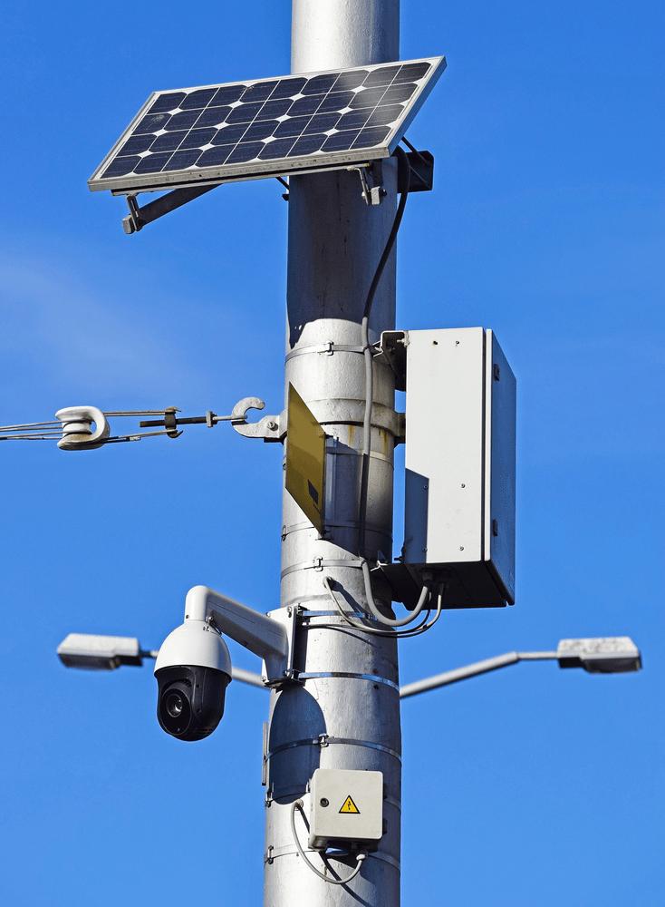 solar powered surveillance security camera