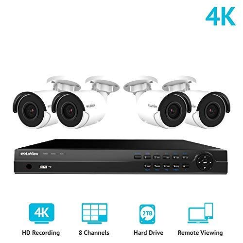 LaView 8 Channel Ultra HD 4K Home Security Camera System for Black friday sale and deal with 4 8MP IP Bullet Cameras