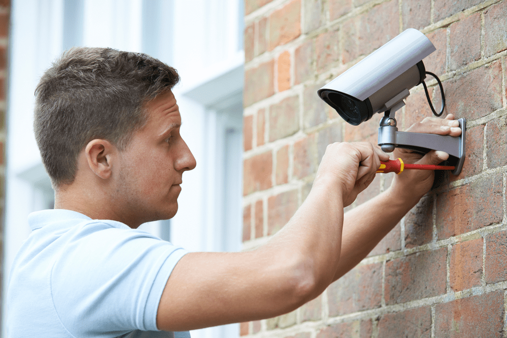 DVR security camera installation