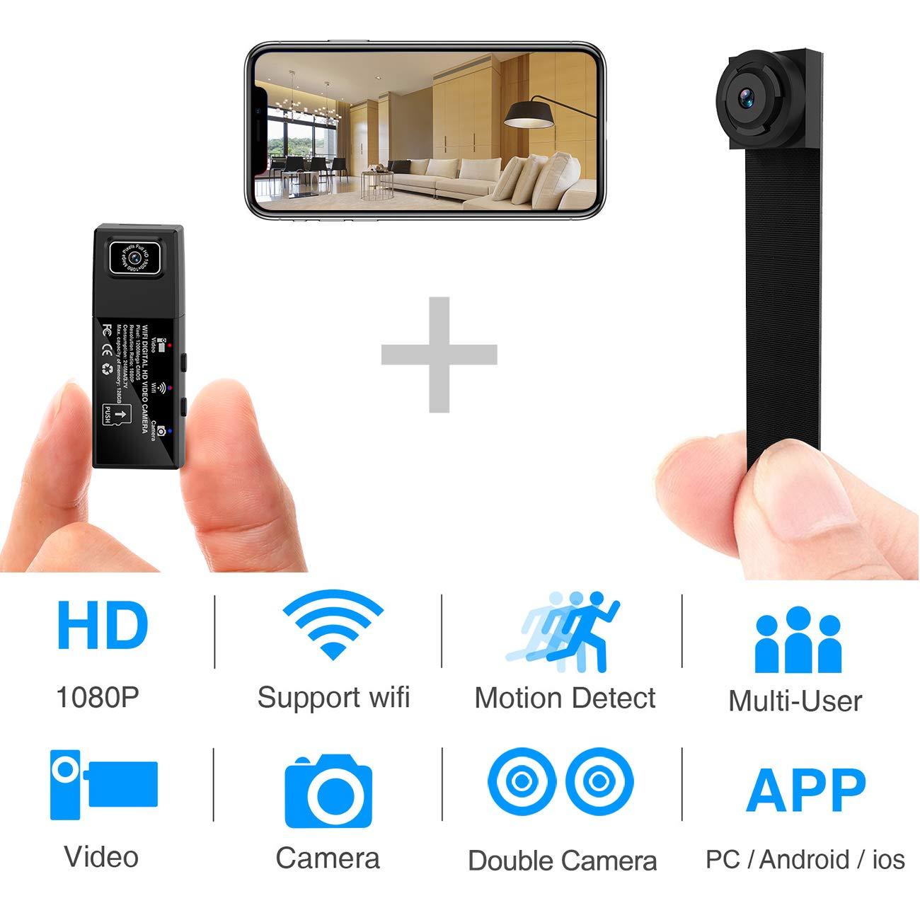 Hidden spy outdoor hidden security camera with 1080p res and wifi portable wireless DIY cam