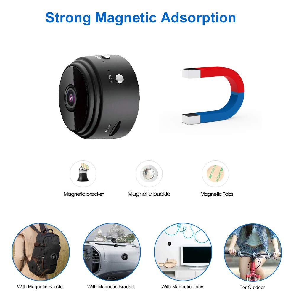 Mini Spy Camera Wireless outdoor Hidden Camera WiFi HD 1080P Small Nanny Cam Home Security Motion Detection Night vision