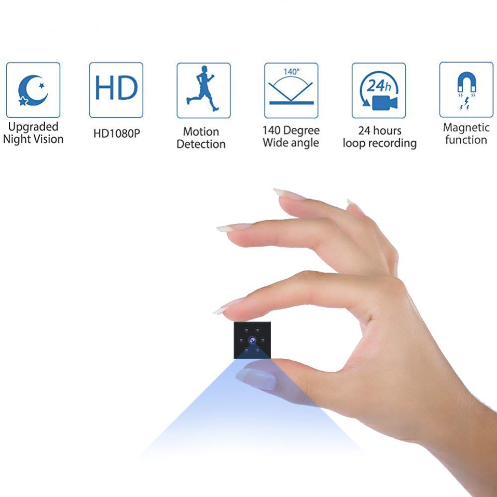 Mini Spy Cameras outdoor and indoor Hidden Camera HD 1080P for Home Small Nanny Cam