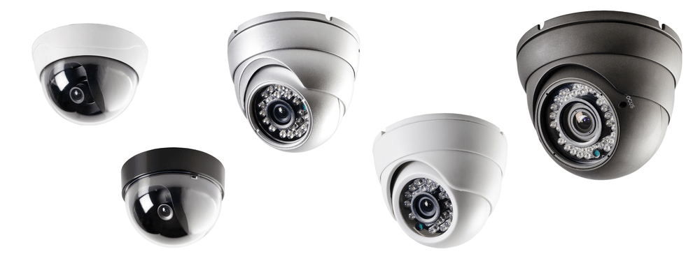 POE dome IP security cameras system
