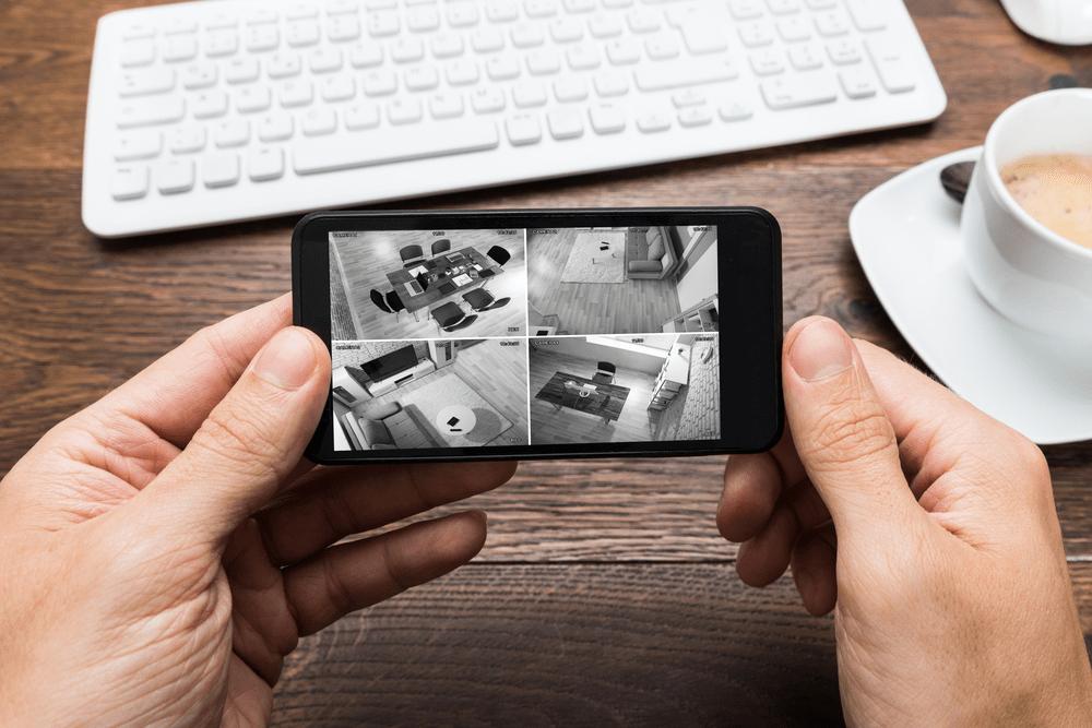 poe security spy camera footage on phone
